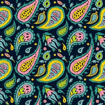 Naadloos patroon zoals een ontwerp van paisley