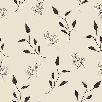 Naadloos patroonontwerp met bloemenelementen