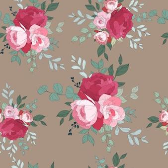 Naadloos patroonontwerp met mooie bloemen