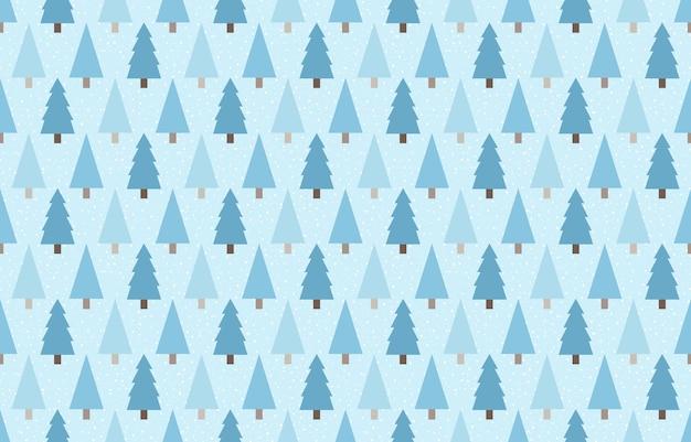 Naadloos patroonontwerp van winterpijnbomen