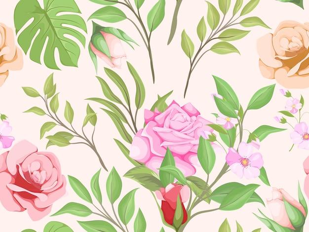 Naadloos patroonontwerp voor textielprint en mode-ontwerpsjabloon