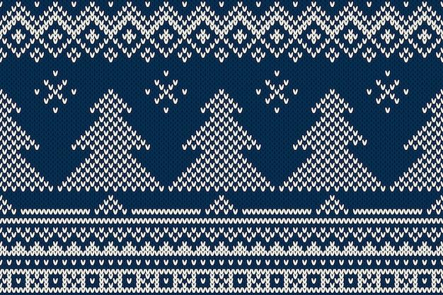 Naadloos patroonornament op de wol gebreide textuur.