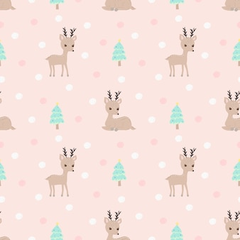 Naadloos patroonrendier op roze achtergrond