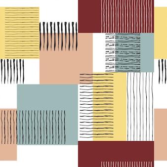 Naadloos retro gestreept patroon