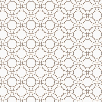 Naadloos rond geometrisch patroon