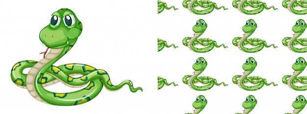 Naadloos slangenpatroon