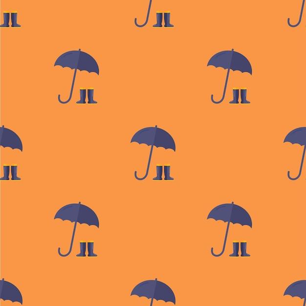 Naadloos stijlvol paraplupatroon in een vlakke stijl voor stoffen, textielomslagen en andere dingen
