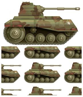 Naadloos tankpatroon dat op wit wordt geïsoleerd