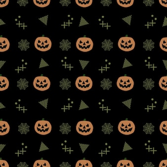 Naadloos trendy halloween-patroon