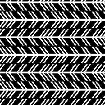 Naadloos trendy pijlpatroon met moderne strepen