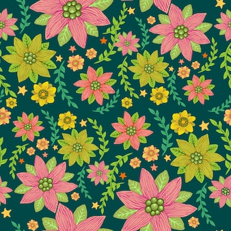 Naadloos tropisch bloemenpatroon