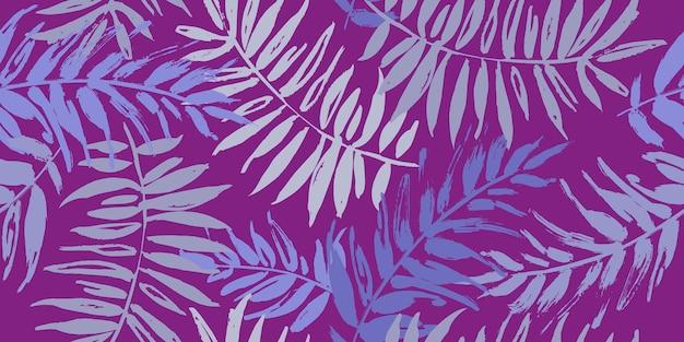 Naadloos tropisch patroon met palmbladeren