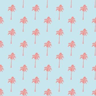 Naadloos tropisch patroon met palmbomen. vintage achtergrond. bos, jungle. abstracte aard hand getekend achtergrondstructuur. vlakke stijl, illustratie.
