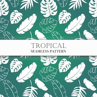 Naadloos tropisch patroon.