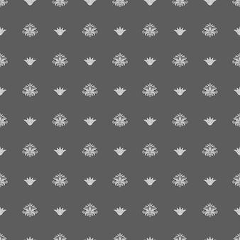 Naadloos uitstekend koninklijk patroon. retro achtergrond, textuurdecor, vectorillustratie