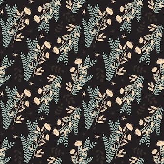 Naadloos vector bloemenpatroon voor scrapbooking, giftwrap, stof en behangontwerpprojecten. ontwerp van het oppervlaktepatroon.
