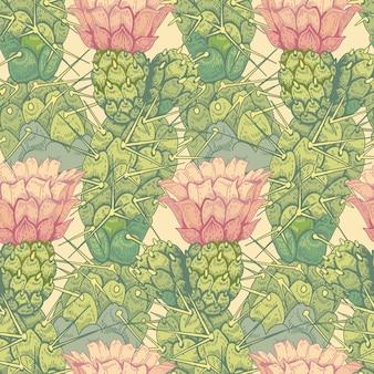 Naadloos vector bloemenpatroon.