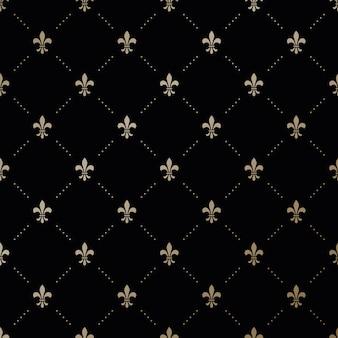 Naadloos vector gouden patroon met fleur-de-lis