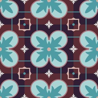 Naadloos vector kleurrijk arabisch geometrisch traditioneel patroon.