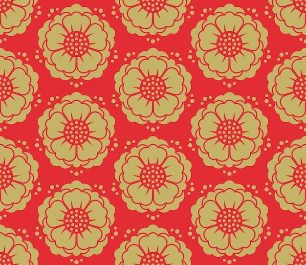 Naadloos vector koreaans patroon