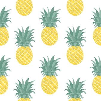 Naadloos vector tropisch patroon met ananas