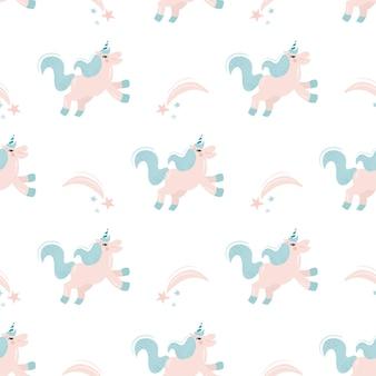 Naadloos vectorpatroon met eenhoorns