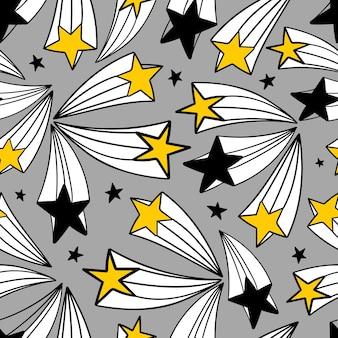 Naadloos vectorpatroon met sterren