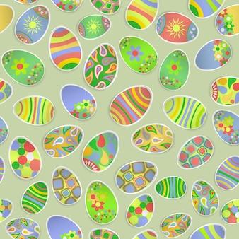 Naadloos veelkleurig patroon van papier