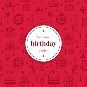 Naadloos verjaardag lineair patroon
