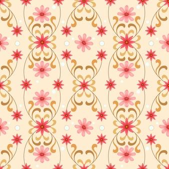 Naadloos vintage bloemenpatroon