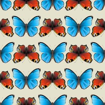 Naadloos vlinderpatroon