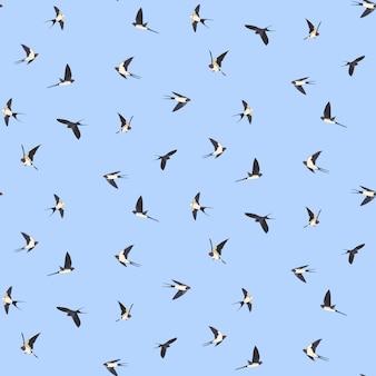 Naadloos vogelspatroon