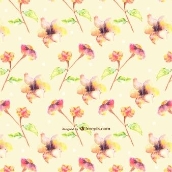 Naadloos waterverfbloemen ontwerp