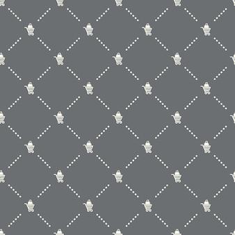 Naadloos winkelwagenpatroon op een donkere achtergrond. winkelwagen pictogram creatief ontwerp. kan worden gebruikt voor behang, webpagina-achtergrond, textiel, print ui/ux