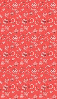 Naadloos zacht patroon met doodle-elementen