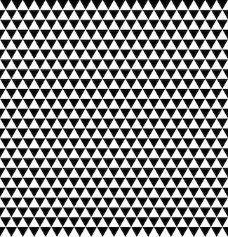 Naadloos zwart-wit patroon met kleine driehoekjes