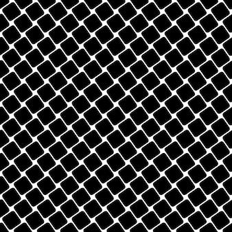 Naadloos zwart-wit vierkante patroon - geometrische halftone abstracte vector achtergrond grafisch ontwerp