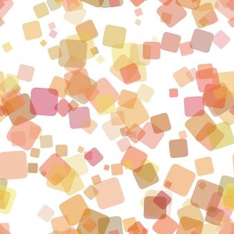 Naadloze abstracte geometrische vierkante patroon achtergrond - vectorillustratie van willekeurige roterende vierkanten