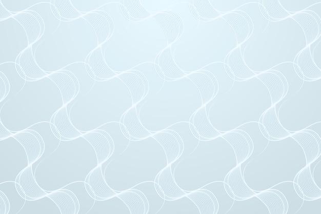 Naadloze abstracte golfpatroon op een lichtblauwe achtergrond