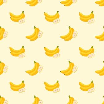 Naadloze achtergrond afbeelding kleurrijke tropische fruit banaan