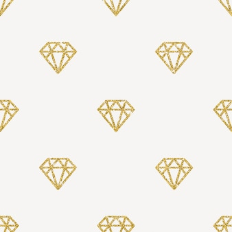 Naadloze achtergrond - glitter gouden diamanten.
