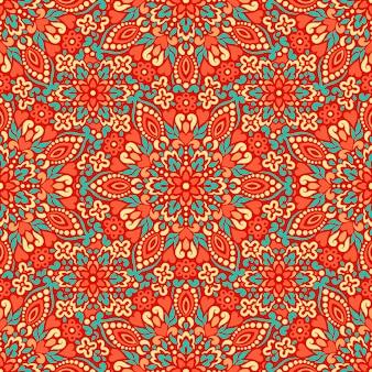 Naadloze achtergrond met abstracte etnische patroon.