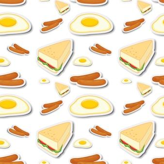 Naadloze achtergrond met ander voedsel
