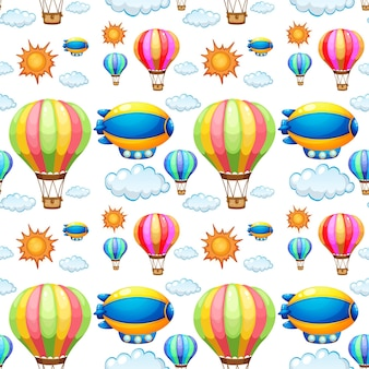 Naadloze achtergrond met ballonnen in de lucht