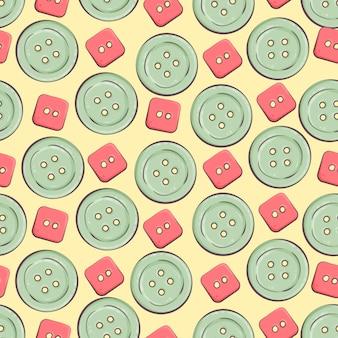 Naadloze achtergrond met kleurrijke knopen