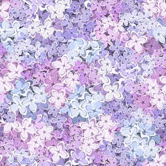 Naadloze achtergrond met lila bloemen. illustratie.