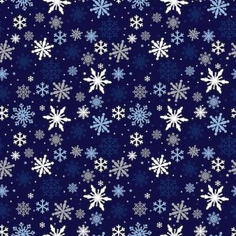 Naadloze achtergrond met sneeuwvlokken en ster