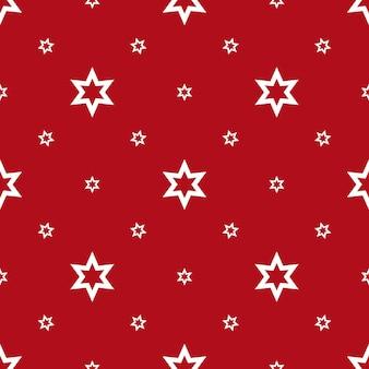 Naadloze achtergrond met sterren afgebeeld op heldere rode oppervlakte vectorillustratie