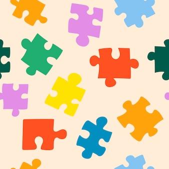 Naadloze achtergrond. puzzel patroon. geometrisch patroon. vector illustratie. roze patroon
