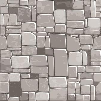 Naadloze achtergrond textuur grijze stenen muur